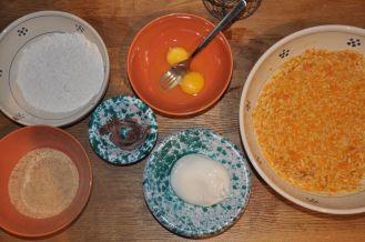 Ingredienti per il supplì alla zucca, con alici e burrata
