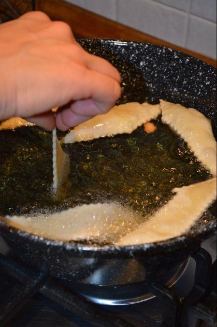 Gnocchi fritti in cottura