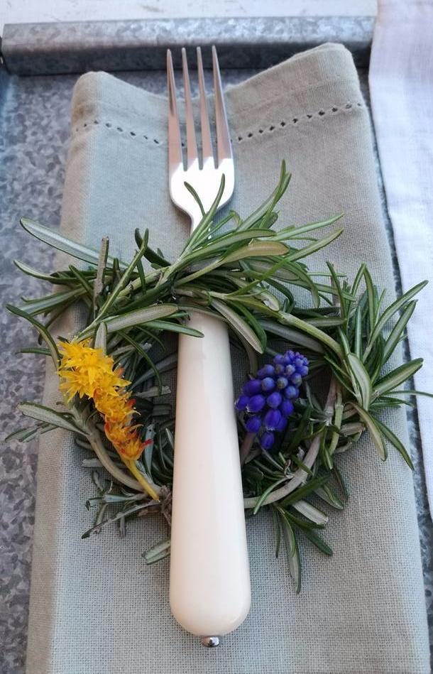 Un piccolo tocco decorativo che renderà la vostra tavola profumata e piacevole