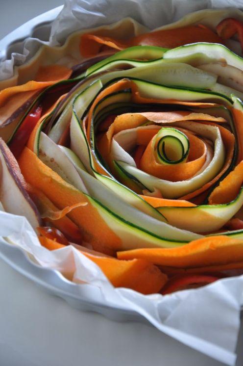 Torta di verdure e formaggio a spirale