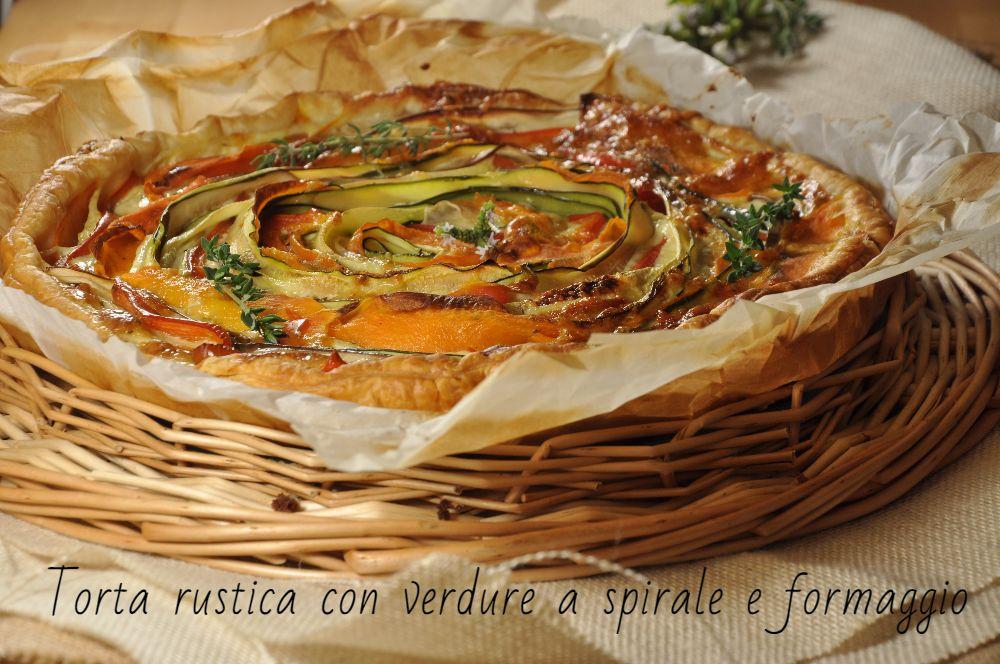 Torta rustica a spirale