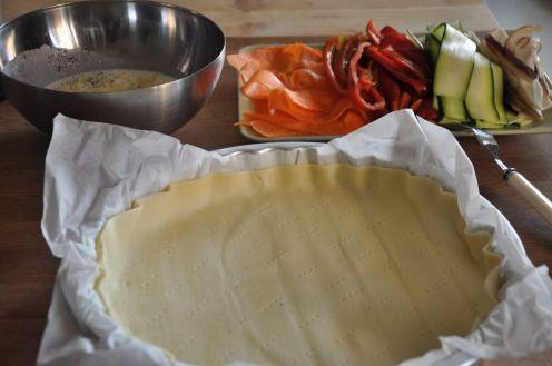 Ingredienti per la torta di verdure e formaggio a spirale