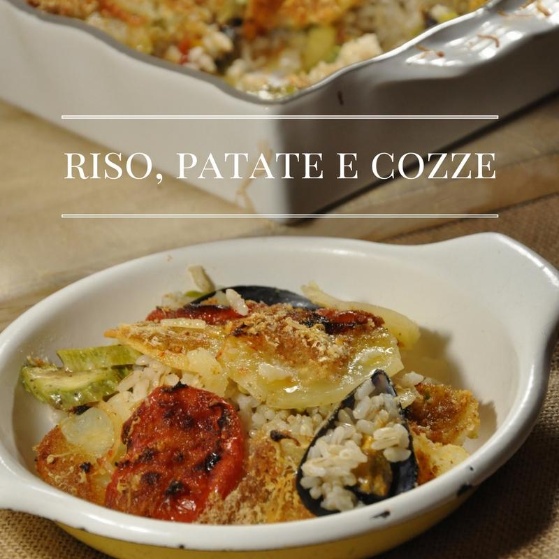 Piatto barese, riso patate e cozze o Tiella