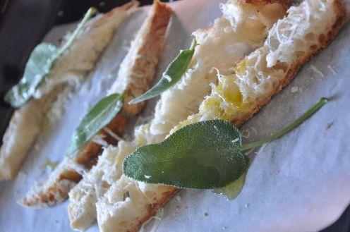 Crostini di pane a lievitazione naturale