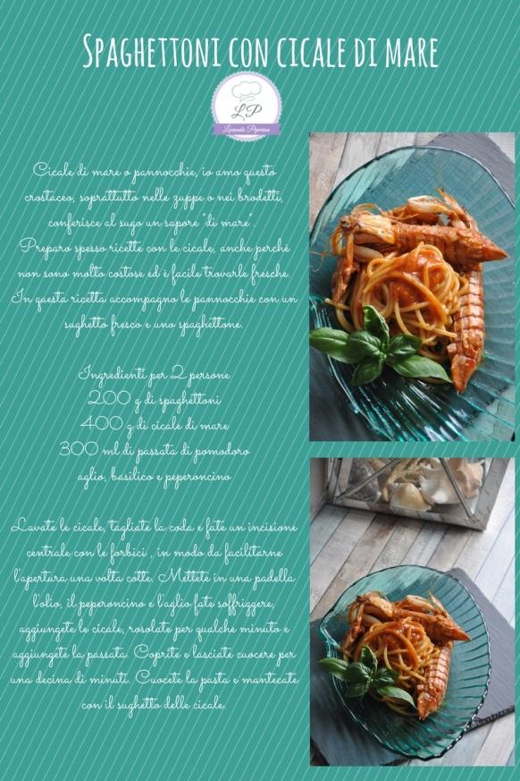 Spaghettoni con cicale di mare