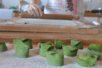 Tortello verde con zucca e toma