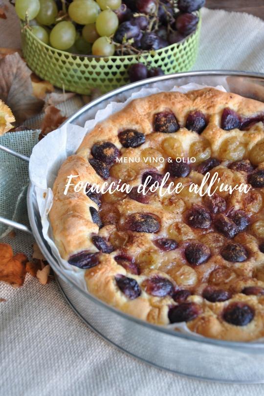 Focaccia dolce all'uva