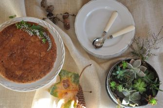 Torta al grano saraceno con confettura di ciliegie