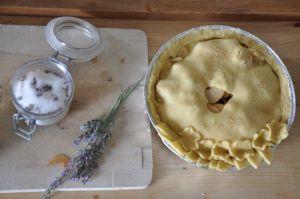 Apple Pie Lavanda Peperina prima della cottura