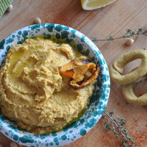 Hummus con zucca grigliata