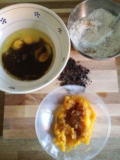 Ingredienti torta zucca e cioccolato