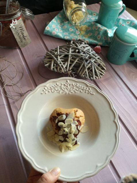 Muffin con zucca e cioccolato a forma di cuore