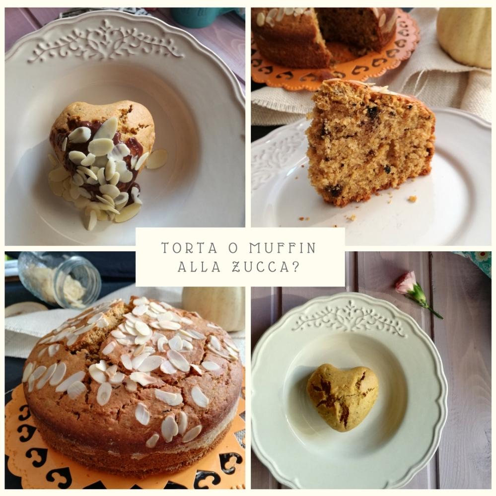 Muffin zucca e cioccolato a forma di cuore