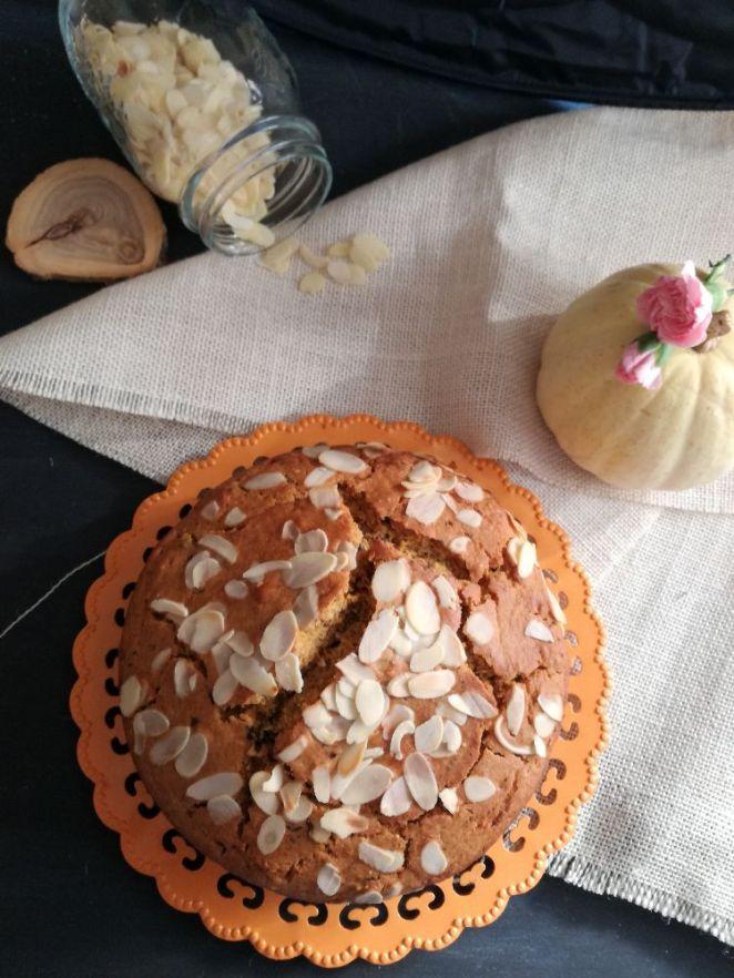 Torta zucca, cioccolato e mandorle