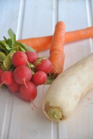 daikon, ravanelli e carote