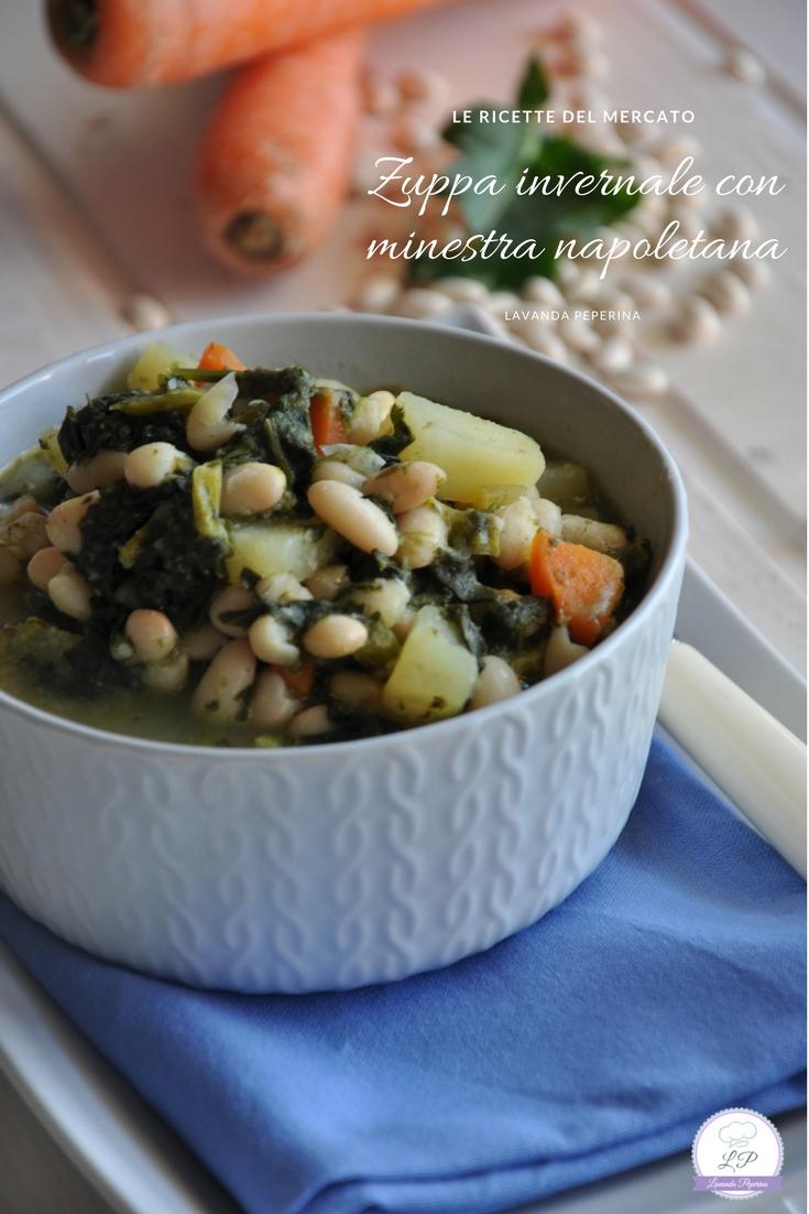 Zuppa con minestra napoletana