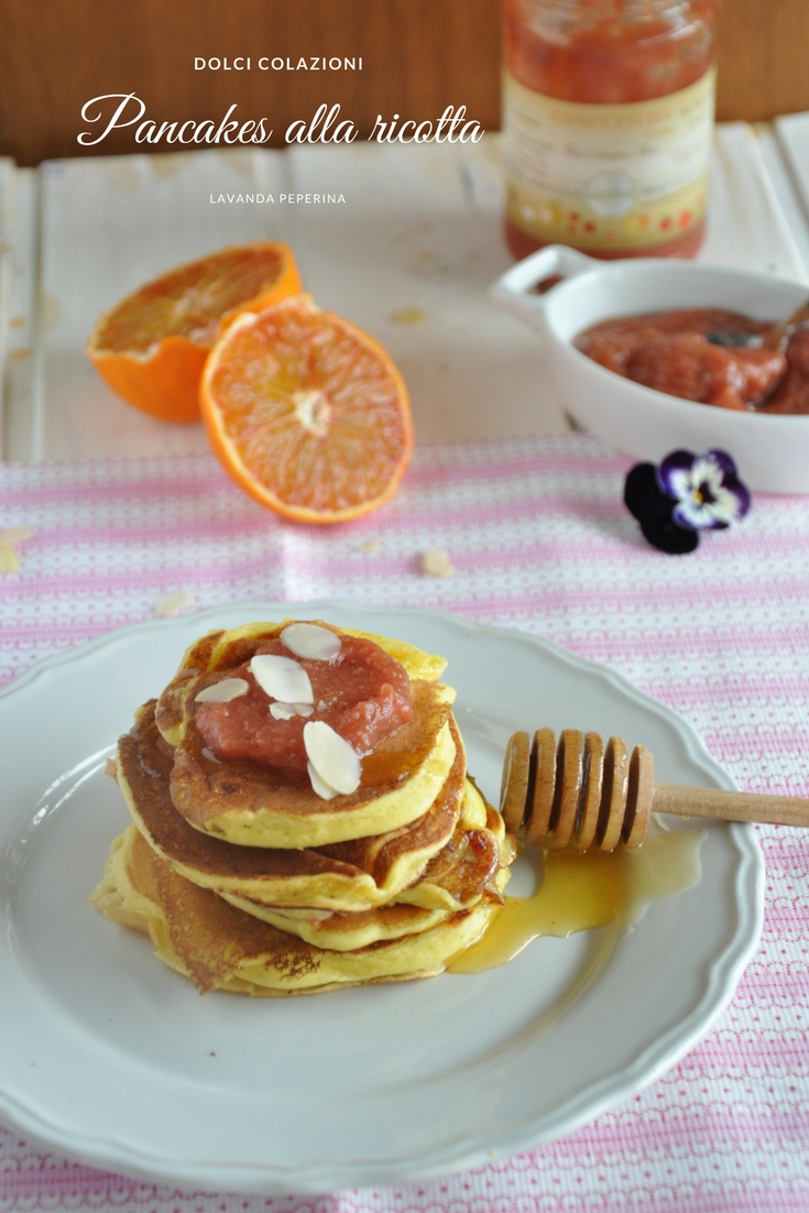 Pancake ricotta e confettura pere cotogne Agrilab