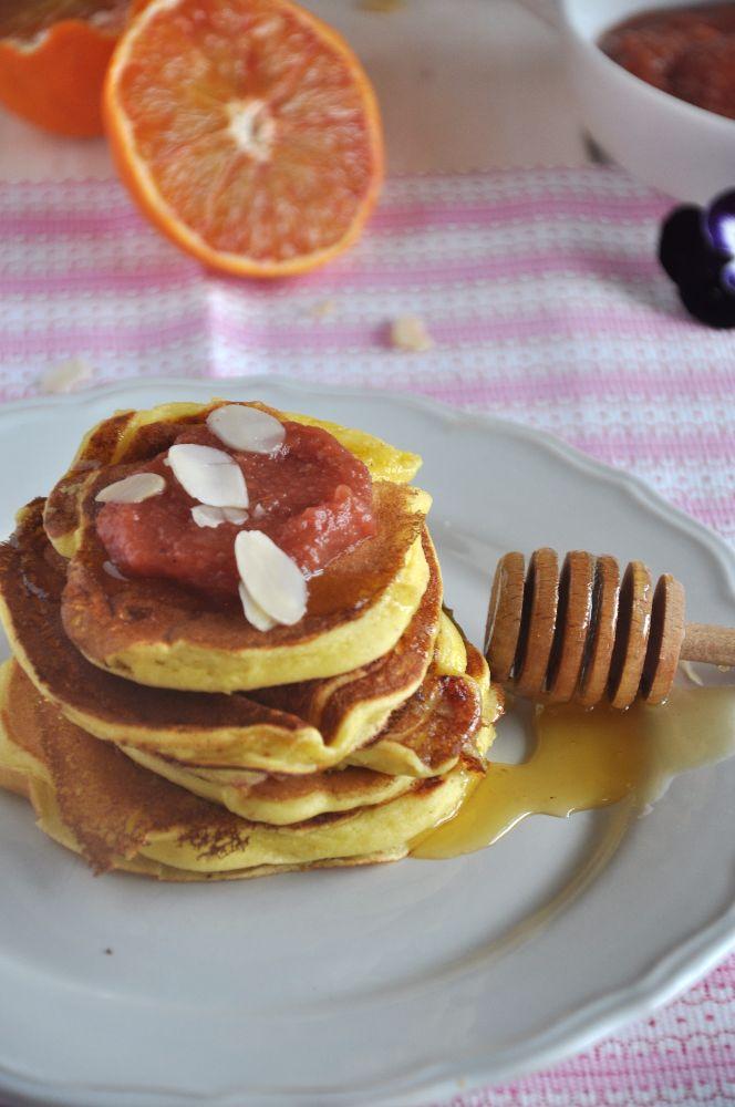 Pancakes alla ricotta e confettura di pere cotogne agrilab