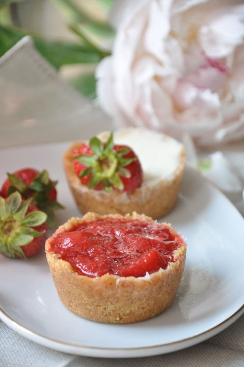 MIni cake alla panna cotta con fragole