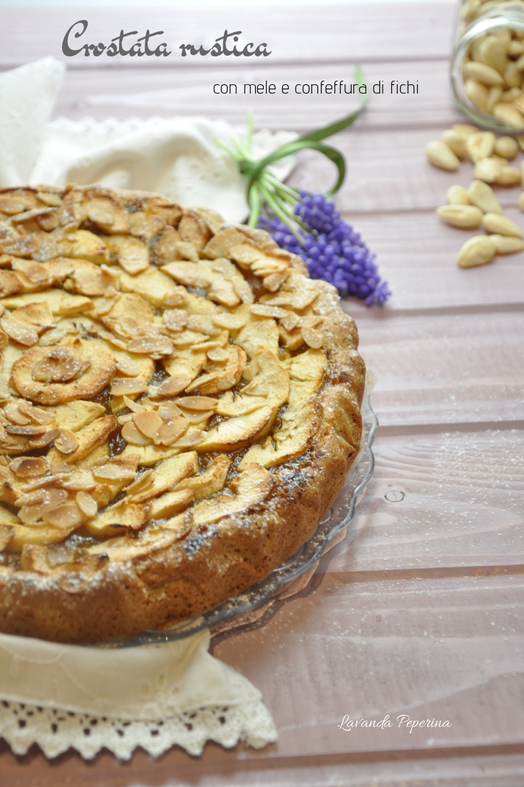 Crostata rustica con confettura di fichi e mele