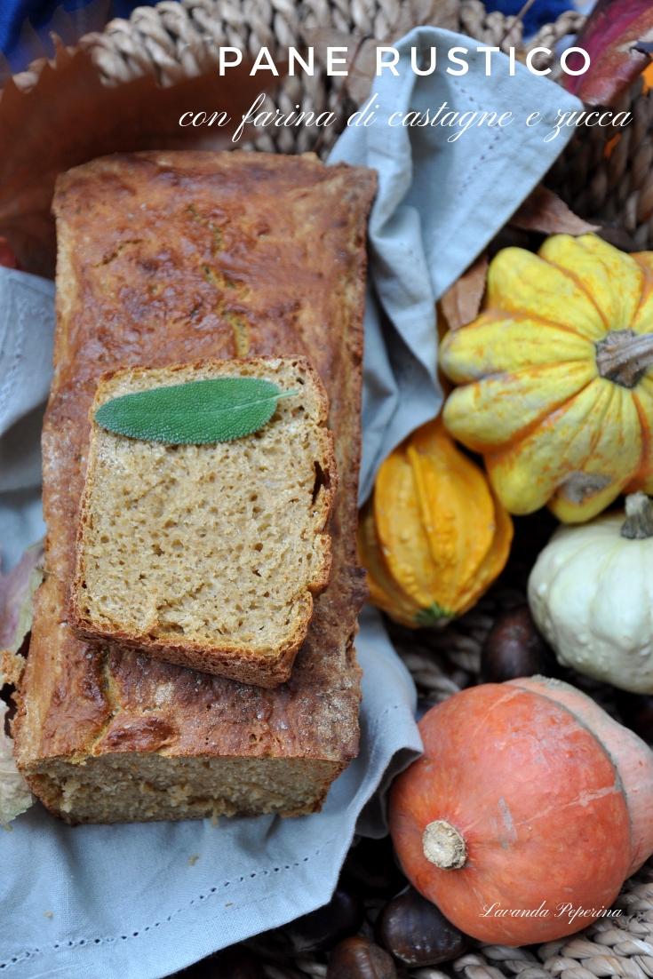 Pane rustico con farina di castagne e zucca