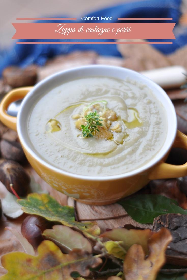 Zuppa di castagne e porri