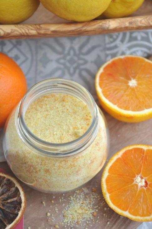 Zucchero all'arancia e limoni