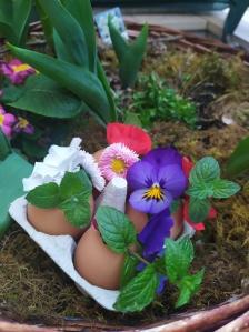 Decorazione con gusci d'uovo