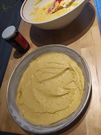 Torta mele e mirtilli al farro