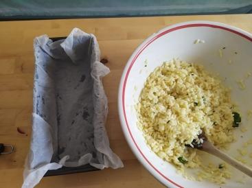 Base per torta salata di riso