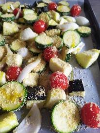 Verdure gratinate per torta di riso salata