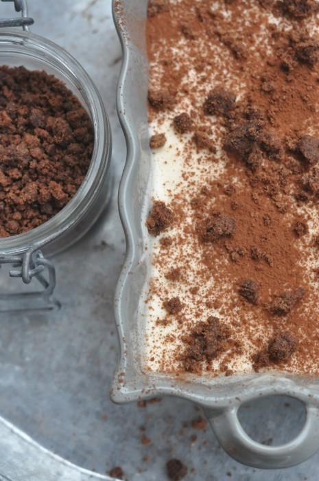 Crumble al cioccolato e tiramisù