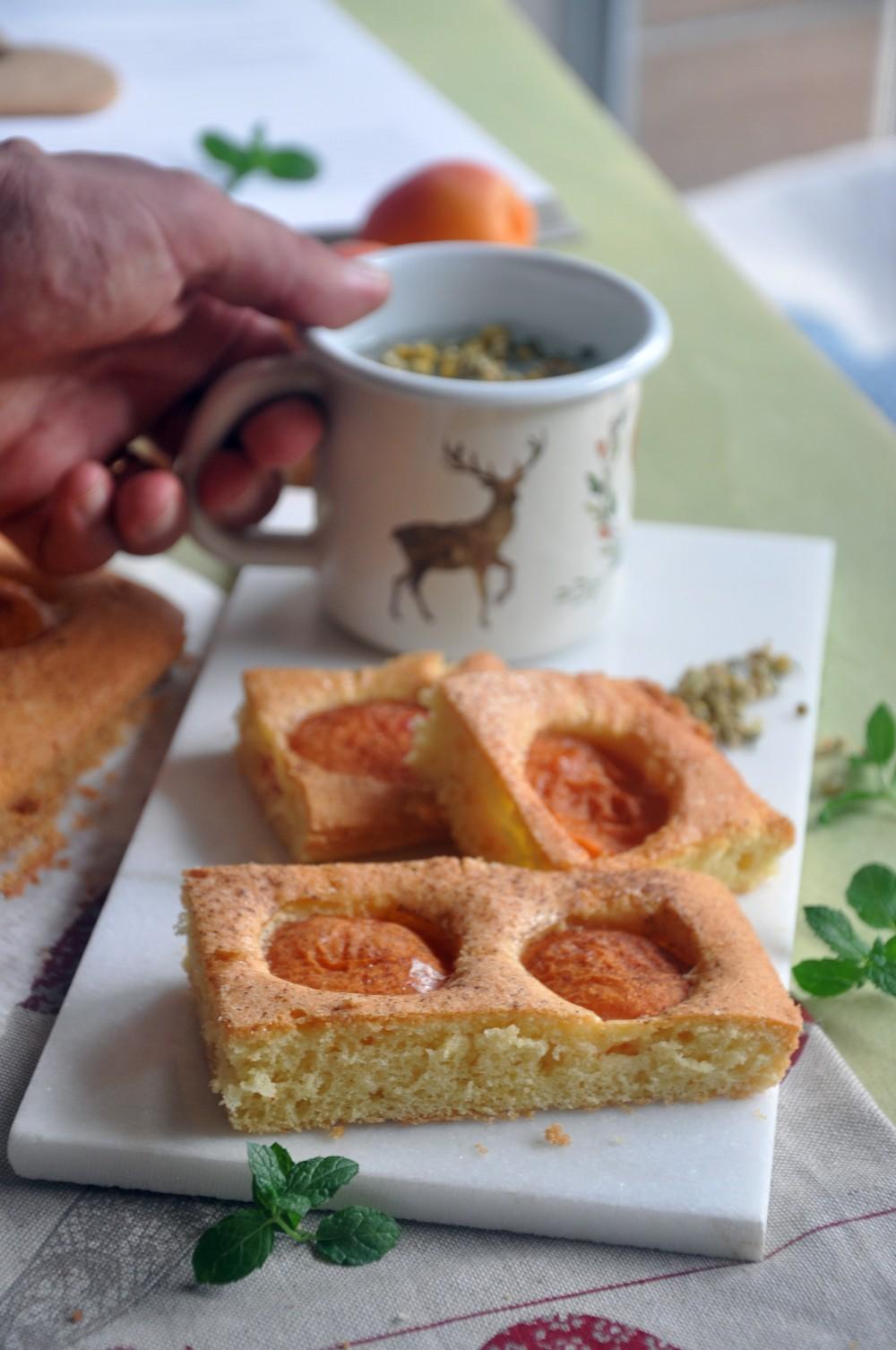Torta con albicocche