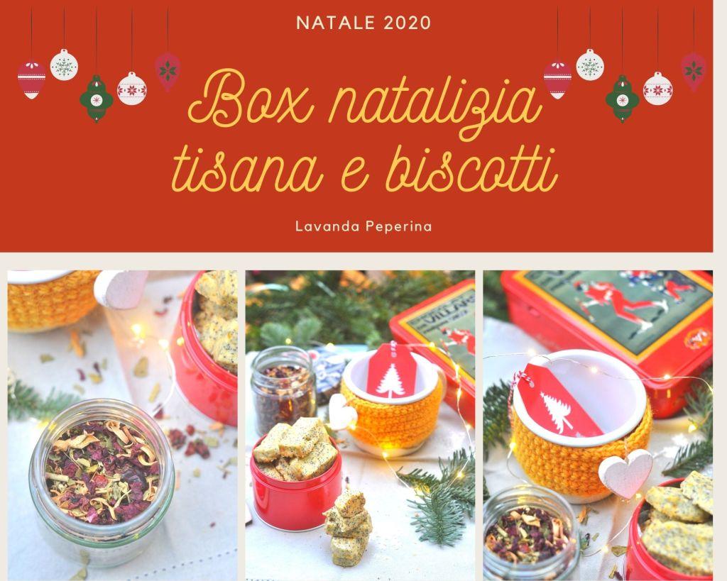 Box natalizia tisana e biscotti